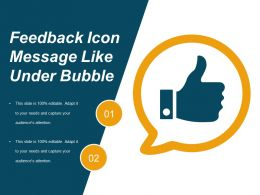 Feedback Icon Message Like Under Bubble