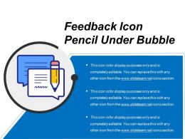 Feedback Icon Pencil Under Bubble