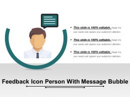Feedback Icon Person With Message Bubble