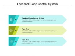 Feedback Loop Control System Ppt Powerpoint Presentation Backgrounds Cpb
