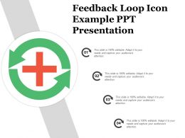 Feedback Loop Icon Example Ppt Presentation