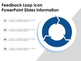 Feedback Loop Icon Powerpoint Slides Information