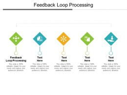 Feedback Loop Processing Ppt Powerpoint Presentation Slides Backgrounds Cpb
