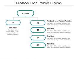 Feedback Loop Transfer Function Ppt Powerpoint Presentation Summary Vector Cpb