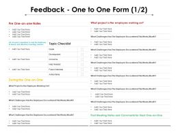 Feedback One To One Form 1 2 Ppt Powerpoint Presentation Professional Graphics Pictures