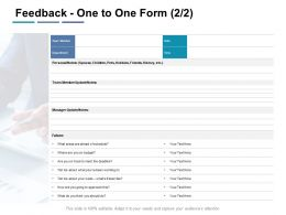 Feedback One To One Form Agenda Ppt Powerpoint Presentation Template Pictures