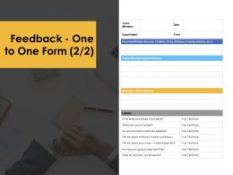 Feedback One To One Form Communication Ppt Powerpoint Presentation Ideas Graphics Design
