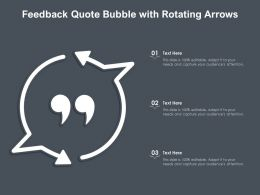 Feedback Quote Bubble With Rotating Arrows