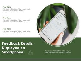 Feedback Results Displayed On Smartphone