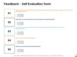 Feedback Self Evaluation Form Ppt Powerpoint Presentation Gallery Slideshow
