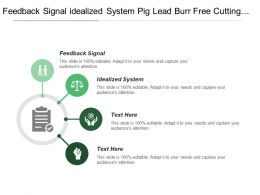 Feedback Signal Idealized System Pig Lead Burr Free Cutting Size
