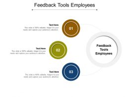 Feedback Tools Employees Ppt Powerpoint Presentation Picture Cpb