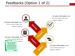 Feedbacks Ppt Infographic Template