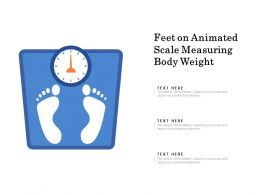 Feet On Animated Scale Measuring Body Weight