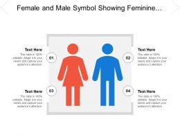 Female And Male Symbol Showing Feminine And Masculine Signs