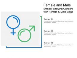 Female And Male Symbol Showing Genders With Female And Male Signs