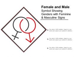 Female And Male Symbol Showing Genders With Feminine And Masculine Signs