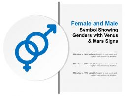 Female And Male Symbol Showing Genders With Venus And Mars Signs