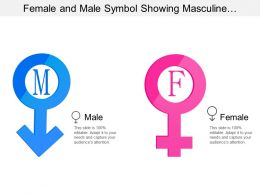 Female And Male Symbol Showing Masculine And Feminine With Male And Female Signs