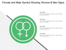 Female And Male Symbol Showing Woman And Man Signs