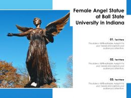Female Angel Statue At Ball State University In Indiana