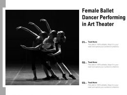 Female Ballet Dancer Performing In Art Theater