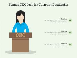 Female CEO Icon For Company Leadership