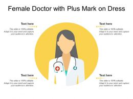Female Doctor With Plus Mark On Dress