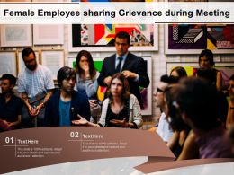Female Employee Sharing Grievance During Meeting