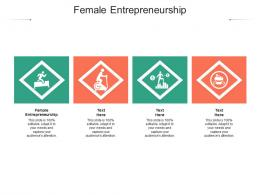 Female Entrepreneurship Ppt Powerpoint Presentation Summary Display Cpb
