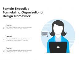 Female Executive Formulating Organizational Design Framework