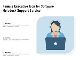 Female Executive Icon For Software Helpdesk Support Service
