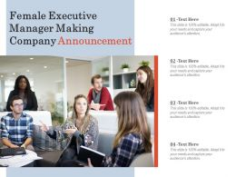 Female Executive Manager Making Company Announcement