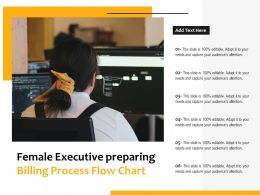 Female Executive Preparing Billing Process Flow Chart