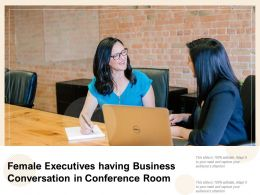 Female Executives Having Business Conversation In Conference Room