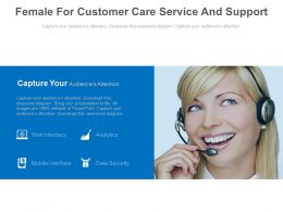 Female For Customer Care Service And Support Powerpoint Slides