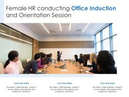 Female HR Conducting Office Induction And Orientation Session