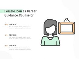 Female Icon As Career Guidance Counselor