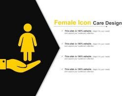 Female Icon Care Design Example Of PPT