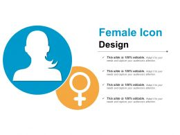 Female Icon Design Good Ppt Example