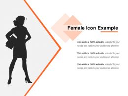 Female Icon Example PowerPoint Templates