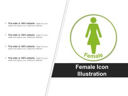 Female Icon Illustration Powerpoint Graphics