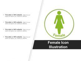 Female Icon Illustration Powerpoint Graphics