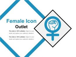 Female Icon Outlet Powerpoint Ideas