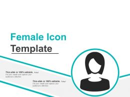 Female Icon Template Powerpoint Layout