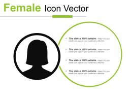 Female Icon Vector PowerPoint Presentation