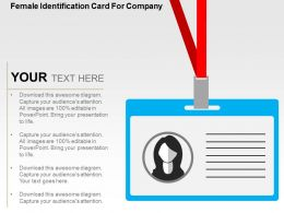 Female Identification Card For Company Flat Powerpoint Design
