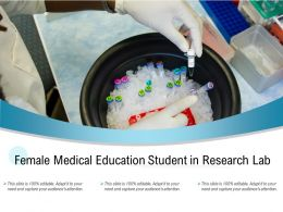 Female Medical Education Student In Research Lab