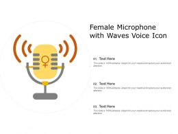 Female Microphone With Waves Voice Icon