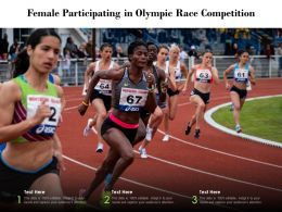 Female Participating In Olympic Race Competition
